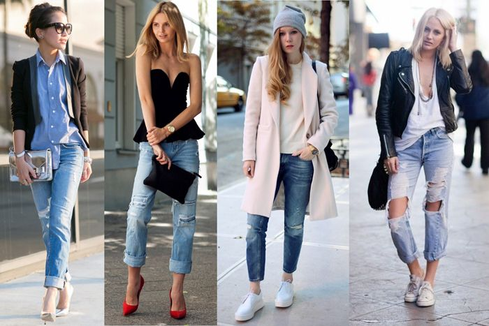 Style Tips On How To Wear Boyfriend Jeans