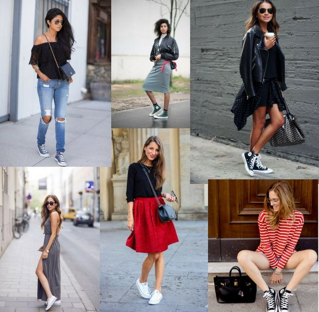 Stylish Ways to Wear a Pair of Converse Sneakers